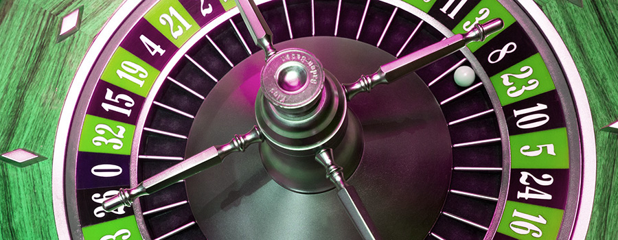 Roulette wheel with green hues and colours. Cannabis retail license in Ontario AGCO lottery. Dispensary marketing agency. Cola Digital Cannabis Marketing Agency. ColaDigital.ca.
