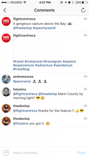 Screenshot of Instagram hashtags in captions. Instagram advertising tips for cannabis stores and dispensaries.