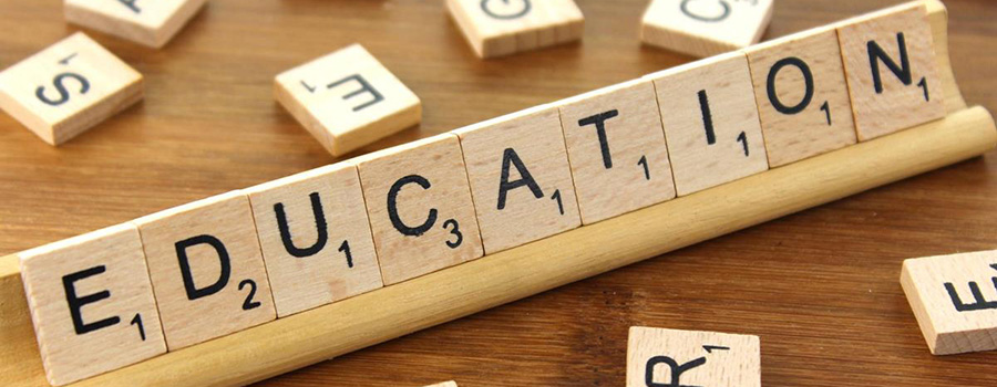 Tiles spelling the word Education. Cannabis education to promote your dispensary on Facebook. How to promote your dispensary on Facebook. Social media marketing plan for cannabis retail stores.
