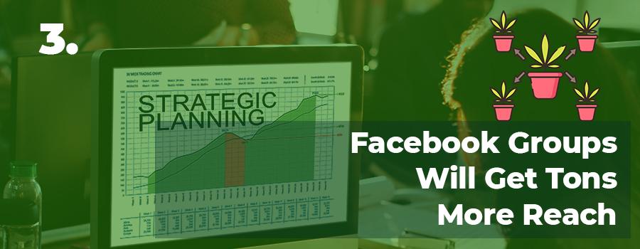 Marijuana marketing strategies tip 3. Use Facebook groups for marijuana marketing. Social media for dispensaries. MMJ marketing plan. Marijuana marketing agency USA and Canada.
