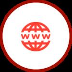 Glob Icon. cbd website design and development. CBD website company.