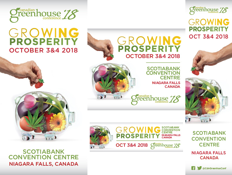 Examples of Google Display Ads for Canadian Greenhouse Conference 2018. Advertise Medical Cannabis on Google.