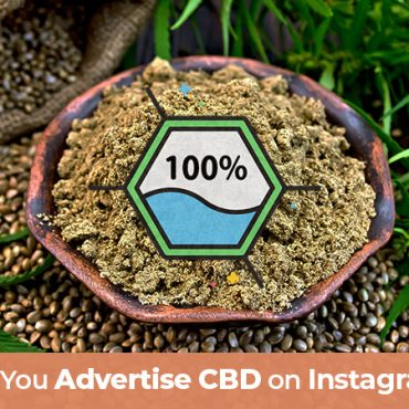 Hemp seeds and CBD oil on a table. Can you advertise CBD on Instagram. Tips on how to advertise CBD on social media platforms.