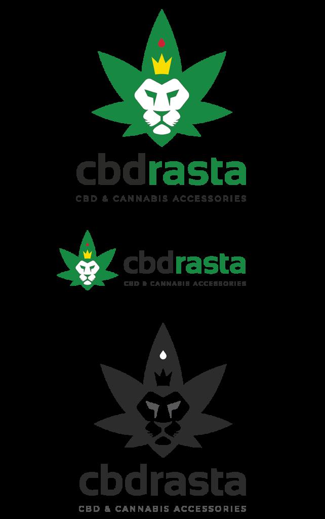 Cannabis Logo designs examples. For CBD Rasta. By ColaDigital.ca.