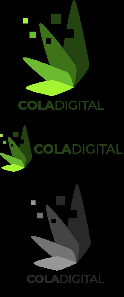 3 samples of coladigital.ca logos