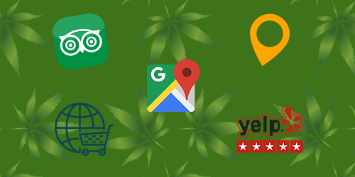 Local review site icons. Local SEO tips for dispensary marketing. Dispensary SEO tips. Dispensary SEO agency. Cannabis SEO company.