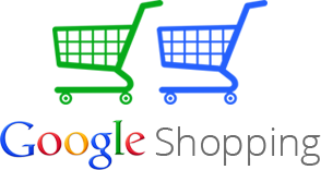 Google Shopping logo. CBD advertising using Google Shopping Ads.