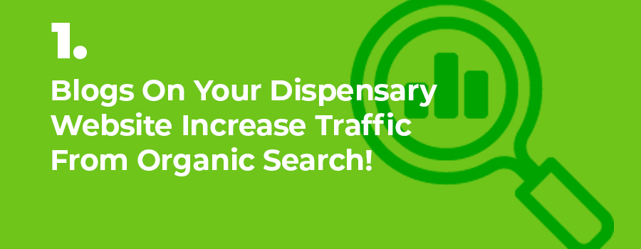 Blogs help a dispensary website attract high quality traffic from organic search engines like Google and Bing. How to market your dispensary using blog articles. Dispensary SEO company.