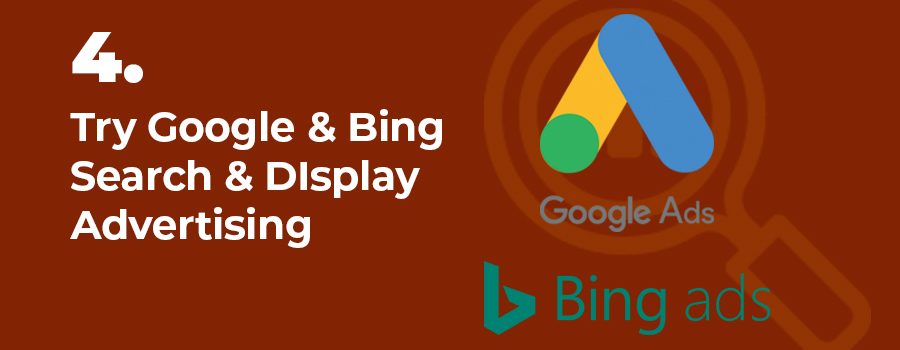 You may be abl eto market your dispensary using Google and Bing ads - search and display. How to market your dispensary on Google and Bing.