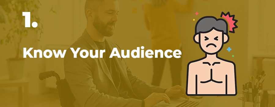 Tips for cannabis content writing #1: Know your audience. Cannabis content writing services. Cannabis content marketing agency. cannabis industry writer.