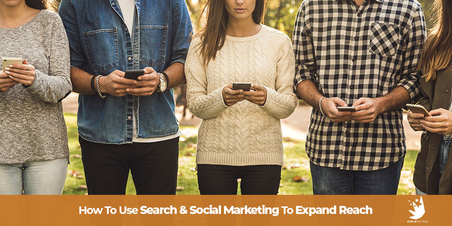 Improve your marijuana marketing strategy by combining search marketing and social media marketing.