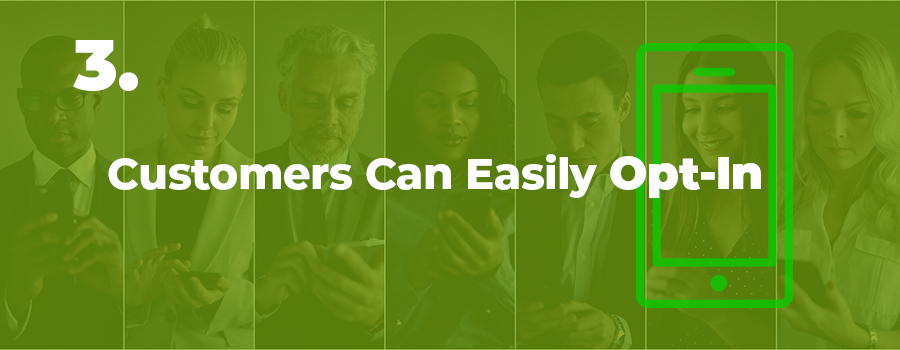 Dispensary texting tips. Customers can easily opt-in. text message marketing for a dispensary.
