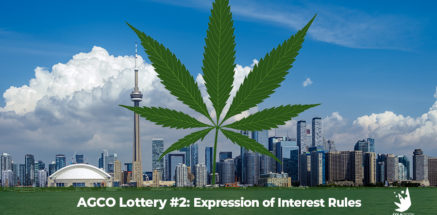 City of Toronto, Ontario city scape. AGCO lottery rules for second AGCO cannabis retail store lottery in Ontario. Dispensary marketing news. Dispensary marketing agency.