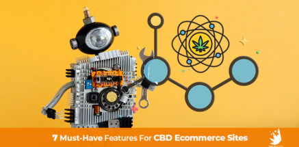 Robot with CBD images. CBD Website Design - The 7 Key Features for Every CBD Website.