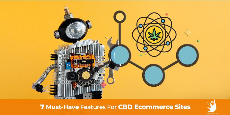 Robot with CBD images. CBD Website Design - The 7 Key Features for Every CBD Website.