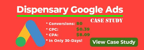 Dispensary advertiisng on Google.