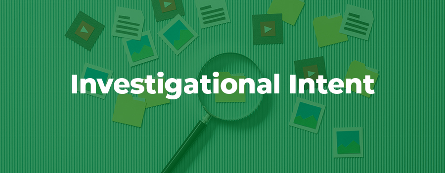 Info on Investigational search intent for CBD marketing.