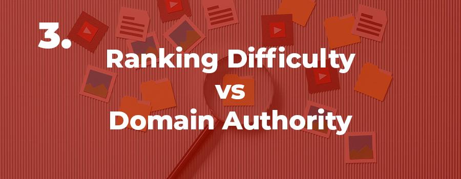 SEO tips for CBD keywords. Ranking difficulty vs domain authority. keyword research for cbd.