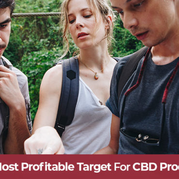 Group of 30-40 yearolds hiking after using cbd products. hemp marketing tips to sell CBD products online.