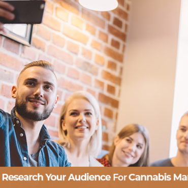 Group of marijuana users taking a selfie. Cannabis marketing tips and strategy.