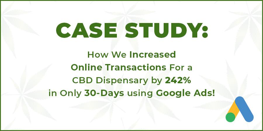 Case Study. CBD oil case study by cola digital or coladigital.ca CBD marketing and advertising agency.