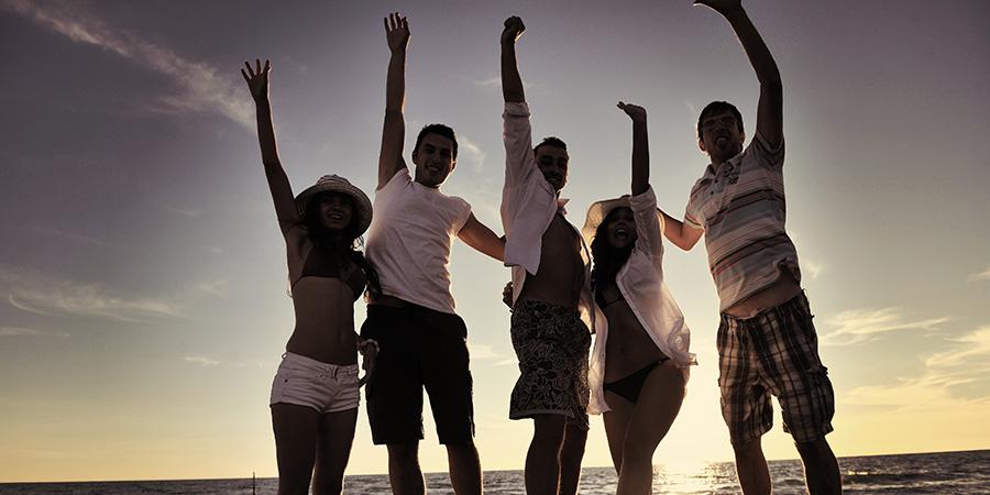 beach party celebrate cbd marketing company