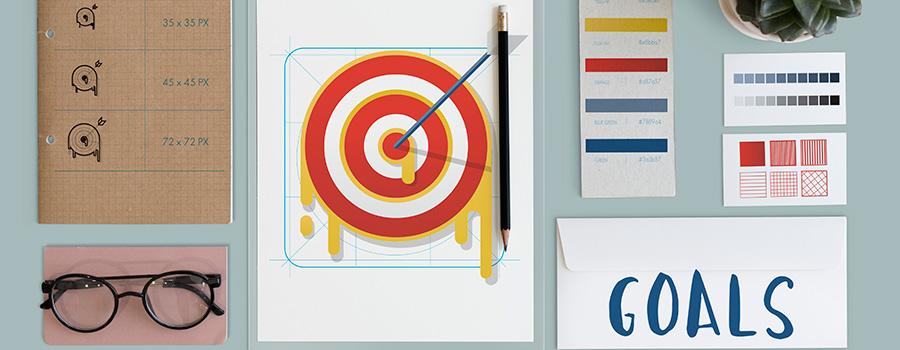 plan strategy target aim success concept.