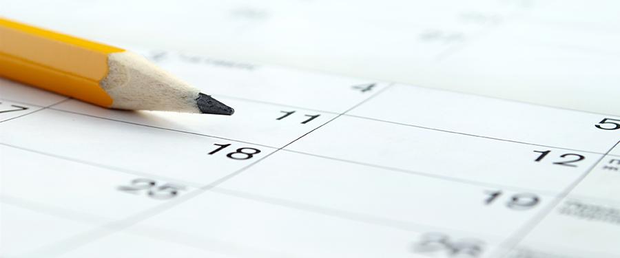 calendar and pencil. cbd marketing advertising company in the usa. cbd case studies USA.