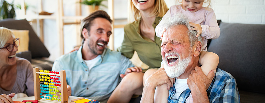 senior grandparents playing with grandchildren. cbd seo company. advertising company for hemp-derived CBD products