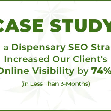 dispensary seo strategy case study for cannabis retail marketing in the USA and Canada. Dispensary marketing and SEO company.