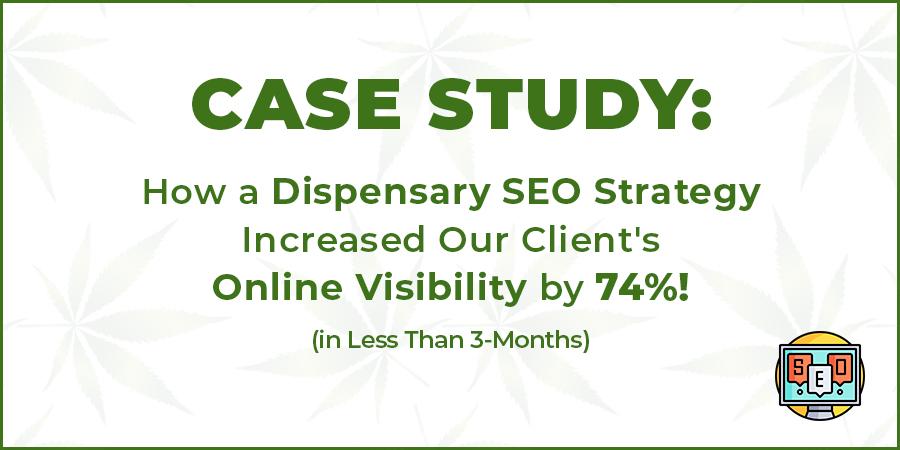 dispensary seo strategy case study for cannabis retail marketing in the USA and Canada. Dispensary marketing and SEO company.