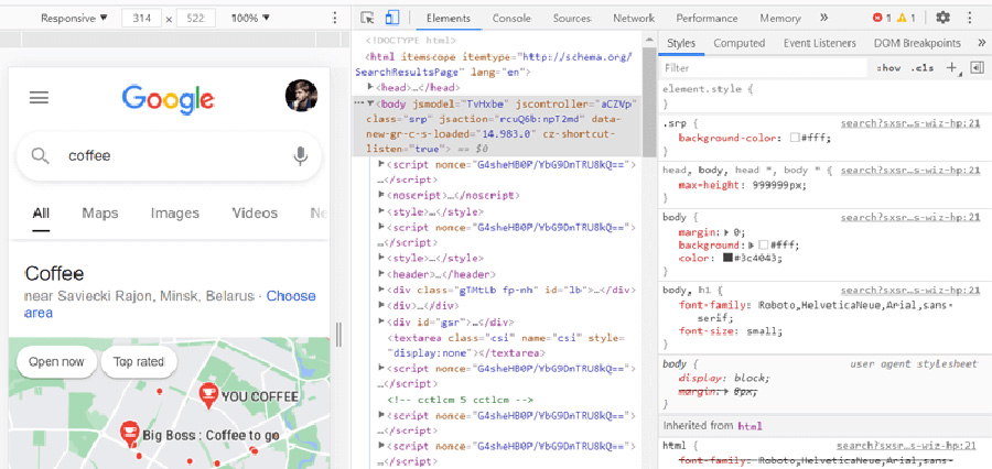 How to use chrome developer tools for marijuana seo and increased search engine rankings. cannabis SEO agency.