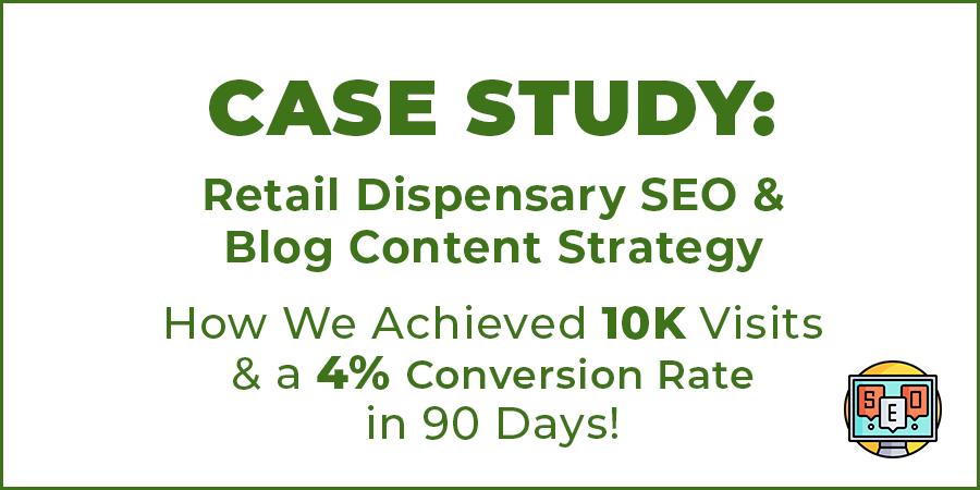 marijuana dispensary seo strategy case study image