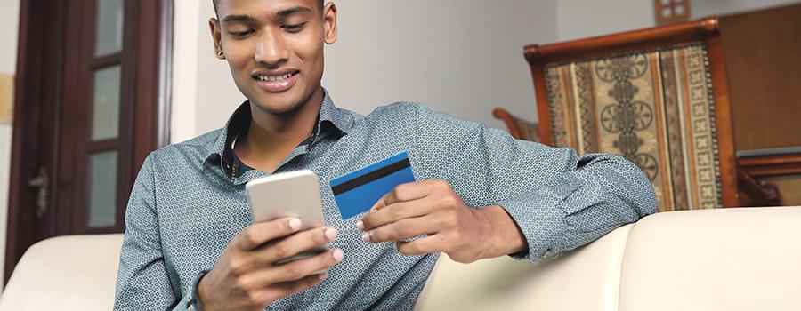 man buying cbd online. cbd display advertising services company.